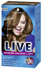 Schwarzkopf Live Intense Hair Colour + Lift L54 Luminous BROWN Permanent Color