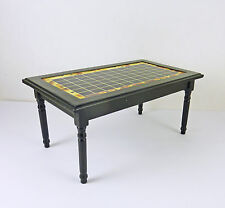 Closeout! Dollhouse Miniature Black Table with Tile, CLA10959