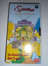 VHS I Simpson The Simpsons Stagione 1 Episodio 1 e 2 Natale Da Cani Bart Genio