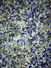 Decorative Crushed Glass 1kg Ocean Blue Tones Fairy Garden Aquarium Vase Candle