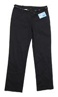 Womens TU Black Cotton Blend Trousers Size 10/L30