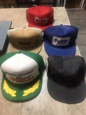 Lot Of 5 Vintage Hats, Truckers Style