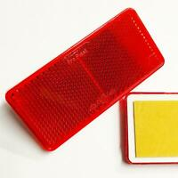 Other 2x Quality Self-Adhesive Red Rectangular Trailer Caravan Rear Reflectors 9