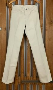 LEVI'S Levis Italy Sta-Prest Bügelfrei 60. 70. Vintage Jeans Hose Beige 29 32
