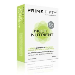 PRIME FIFTY MULTINUTRIENT   32+ Nutrients with Anti-Ageing Multivitamins   30