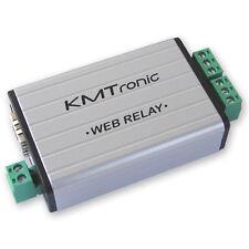 KMTronic LAN IP 2 Canali Relè Scheda Internet Ethernet Domotica Modulo BOX