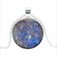Planet Mercury Tibet silver Glass dome Necklace chain Pendant Wholesale
