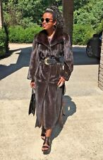Designer Sorbara Neiman Marcus Full length Female Sable Black Mink Fur Coat S-6