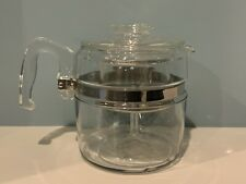 Vintage Pyrex Glass Coffee Pot 6 Cup Flameware Percolator 7756 B Complete