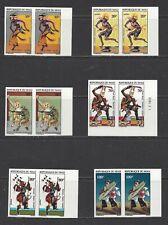 MALI - 175 - 180 - MNH - IMPERF PAIRS - 1972 - FOLK DANCES
