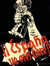 Anuncio de la Guerra Civil Española fascista Falange España arte cartel impresión lv7107