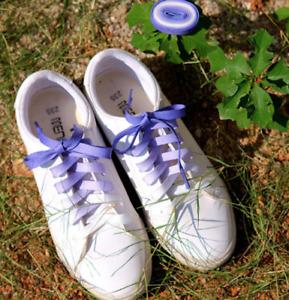 FLAT GRADIENT CANDY PURPLE SHOE LACES approx 100cm  -1 Pair of Shoelaces