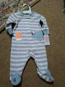 Just One You by Carters Baby boy Footies Sleeper. Size 3 Months New