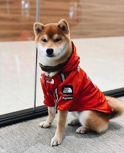 Dog Windbreaker Clothes French Bulldog Pupreme Shirt Dog Sport Retro Dog