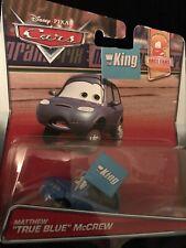 "DISNEY PIXAR CARS MATTHEW TRUE BLUE MCCREW Race Fans ""the King """