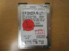 Hitachi 40GB IDE 2.5 Laptop Hard Disk Drive HDD HTS421240H9AT00 (I129)