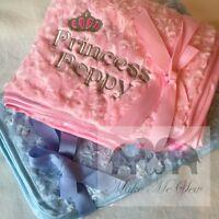 LUXURY Personalised Rose-Swirl Fluffy PRINCESS PRINCE BABY BIRTH BLANKET BOY TOO
