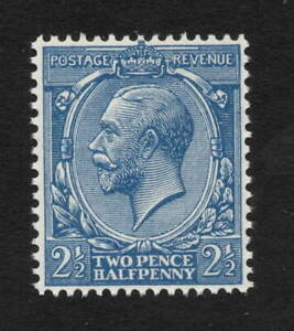 GV - SG372. N21(10). 2 1/2d blue. Superb unmounted mint with RPS certificate.