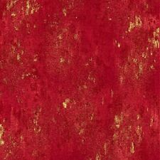 Luxe Cherry Red Gold Metallic Cotton Quilt Fabric by Hoffman BTY