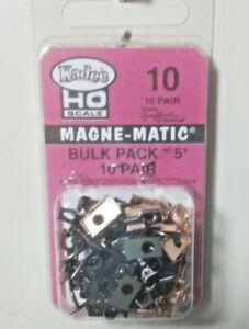 Kadee Number 10 - Bulk Pack 10 pair #5 Metal Couplers Model Railroad HO Scale
