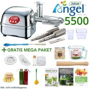 Angel Juicer 5500 Edelstahl Entsafter Saftpresse + 15-teiliges GRATIS MEGA-Paket