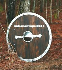 Medieval  Viking Shield - Brown  Wooden Shield  Full Size  Replica