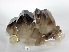 5) Large Smoky Quartz Crystal Cluster Mineral - Brazil Great Gift Home Decor