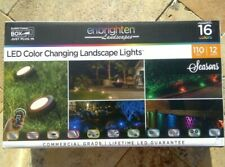 🌟🎈 Enbrighten Landscapes Path Lights 12 Puck Lights 110ft LED Color Changing🌟