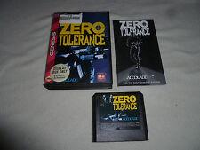 SEGA GENESIS GAME ZERO TOLERANCE COMPLETE W CASE & MANUAL ACCOLADE CDX JVC X EYE
