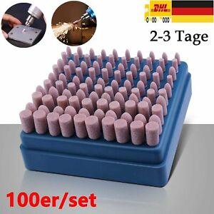 Schleifstein-Set 100 tlg. Polierstifte Scheifstifte für Dremel Bohrmaschine
