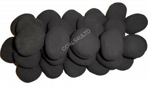 30 BLACK GAS FIRE REPLACEMENTS/STONES/PEBBLES THERMAL RCF 6cmx4cmx3cm Sale