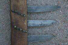 Antique Native American War Club Plains Indian Sioux Triple Knife Blade Weapon
