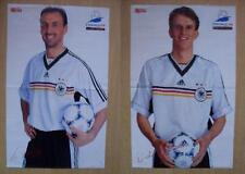 Poster, Jürgen Kohler, Didi Hamann, WM 1998, Frankreich, DFB, Fußball, Deutschl.
