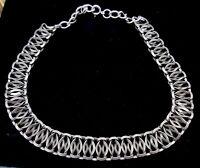 Vintage Silver Tone metal necklace