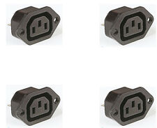 4 x IEC FEMALE Chassis Mains Kettle Socket mounting 240V PLUG 10A CABLE