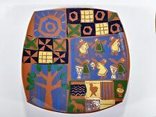 "MaryLynn Schumacher Colorado Pottery 12"" Colorful Earthenware Terracota Platter"