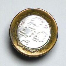 Bouton ancien - Nacre - XIXe - 17 mm - Vintage MOP Button