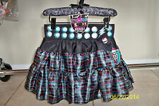 GIRLS MONSTER HIGH REVERSIBLE PETTI SKIRT FRANKIE COSTUME DRESS S/M XS13545