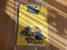 T-Shirt gelb Gr. 48/50 mit Druck
