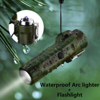 Waterproof Windproof Plasma lighter USB charging Double Arc Cigarette Lighters