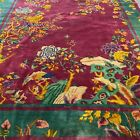 antique art deco chinese rug in good condition #9352 8.11x11.7