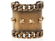 GIVENCHY by Riccardo Tisci Stud and Chain Brass Spike Cuff RARE piece