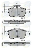 Comline Rear Brake Pad Set CBP01599  - BRAND NEW - GENUINE - 5 YEAR WARRANTY