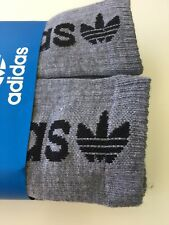 New Mens Adidas Sport 6 Pack Daily Street Casual Crew Cut Socks Gray Black Logo