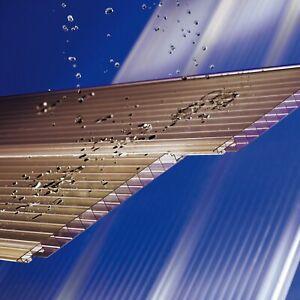 (33,98 €/m²) Stegplatten 16mm Lichtplatte Hohlkammerpaneele BRONZE Klickprofil