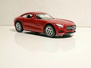 🚓 WELLY NEX CAR Scale Model 1:60 1/60 BOX Mercedes-Benz AMG GT Mercedes red