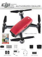 DJI Spark Fly More Combo enhanced bundle Drone RED includes 64GB memory Card