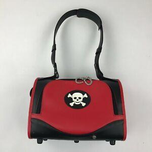Pet Flys Red Black Happy Skull Pet Carrier Airline Approved Dog/Cat Travel Bag