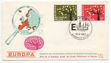 1962 BELGIUM First Day Cover EUROPA CEPT ISSUES Ieper