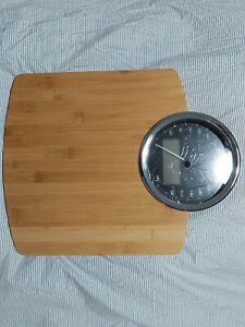 Luna Mechanical & Digital Bathroom Scales - Bamboo Wood - Modern - ADE
